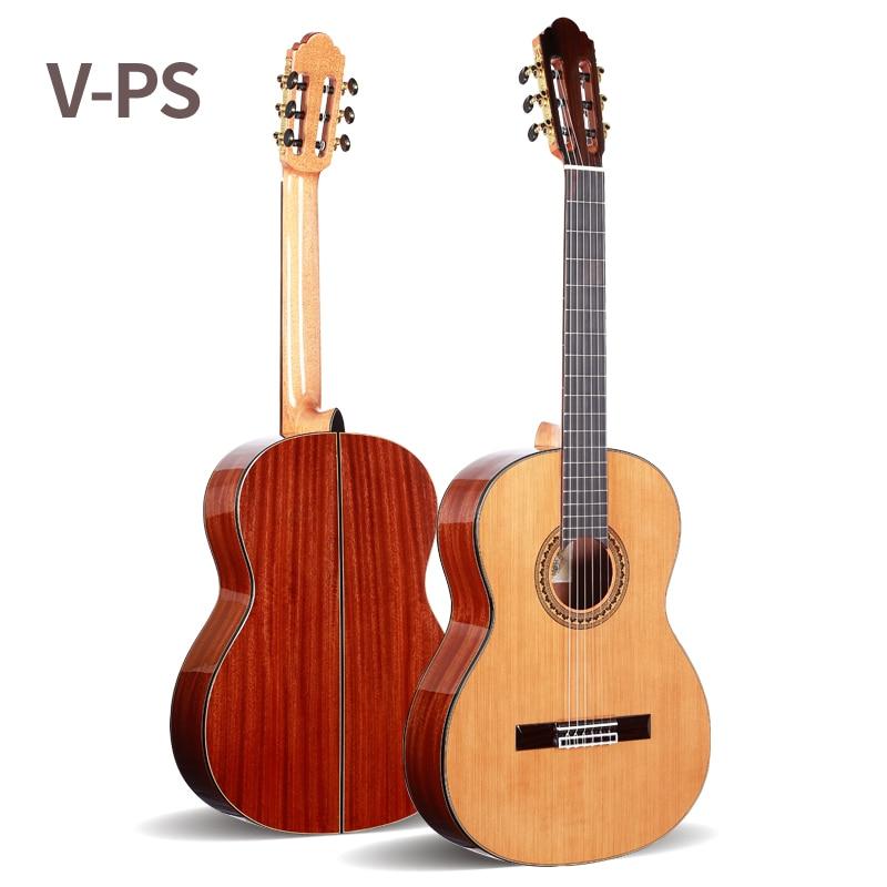 Professionnel 36 pouce Acoustique Classique guitare Avec table En Cèdre Massif/Magogany Corps, 3/4 Classique guitare 580 MM, voyager guitare