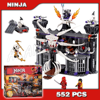 518pcs 9735 Ninja Garmadons Dark Fortress Building Blocks Model Toys Samukai Bricks Compatible with Lego
