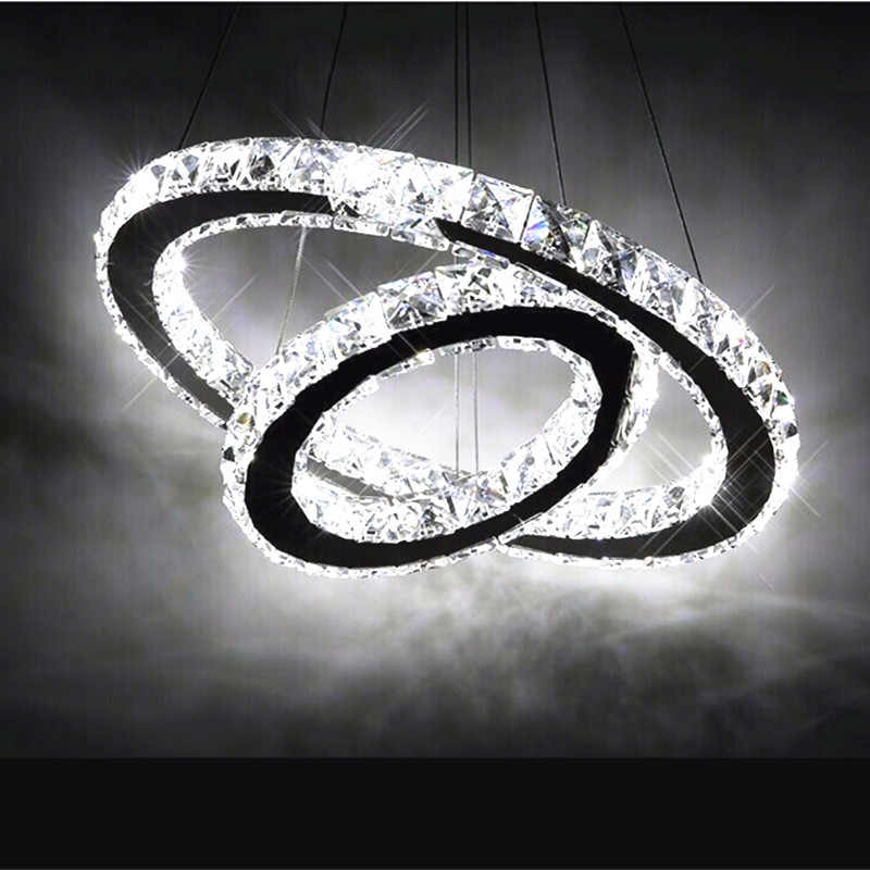 Contemporary Hot sale Diamond 2 Ring LED K9 Crystal LED Chandelier Light Modern Crtstal lamp Circles High-grade lightContemporary Hot sale Diamond 2 Ring LED K9 Crystal LED Chandelier Light Modern Crtstal lamp Circles High-grade light