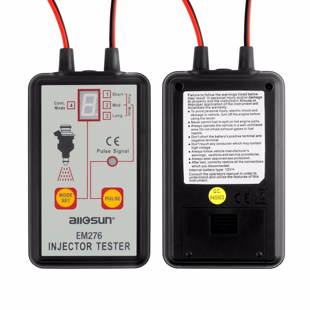 Image 2 - ALL SUN EM276 Professional Injector Tester Fuel Injector 4 Pluse Modes Tester Powerful Fuel System Scan Tool EM276Injector Cleaning & Detector  Machine   -