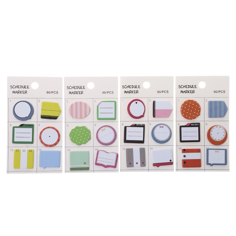 Sticky Notes Schedule Self Adhesive Memo Pad Sticky Notes Post It Bookmark Planner Stickers
