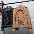 Real Sheepskin Leather Women Jacket Natural Leather Jacket Khaki Black Lady Spring Autumn Parka Cool Fashion Clothes S-XXL