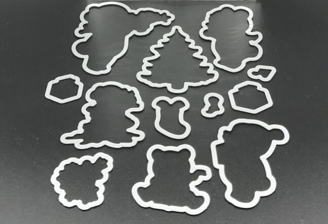 Christmas bear Metal Cutting Dies Stencils for DIY Scrapbooking/photo album Decorative Embossing DIY Paper Cards free shipping 1pc 13cm 13cm album decorative embossing paper tool diy craft stencils painting scrapbooking stamping stamps