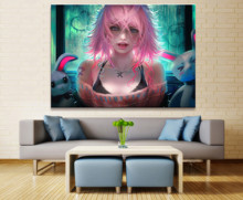 Home Decor Modular Canvas Picture 1 Piece Sexy Voice Girl Animation Painting Poster Wall For Wholesale