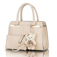 Fashion Patent Leather Women Shoulder Bags Elegant Alligator Pattern Women Messenger Bags bolsos 2 bags set