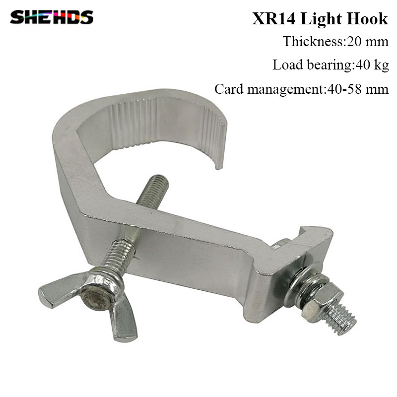 20pcs/lot Fast Shipping High Quality Aluminium Material Light Hook Load Bearing 40kg Light Clamp Free Shipping