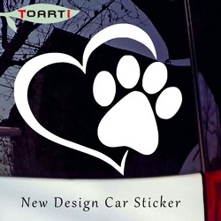 Patte Coeur Imprimer Vinyle Diy Decal Stickers Car Styling Amovible Art Creative Design Pvc Auto-Adhésif Moderne Auto Stickers