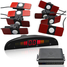 Car LED Parking Sensor System 8 Parktronics 13mm Original Flat car detector 4 Rear 4 Front
