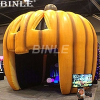 Customized 4mH giant Halloween decoration inflatable pumpkin tent for sale