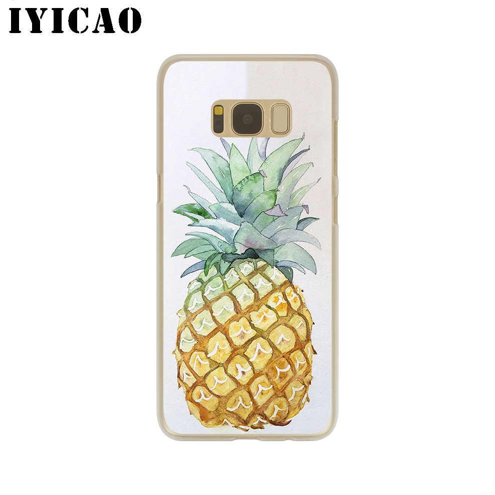 IYICAO owoce ananas twardy futerał do Samsung Galaxy S10e S10 S9 S8 Plus S6 S7 krawędzi pokrywa dla Samsung Note 9 8 10 Plus