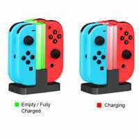 Soporte de cargador de Estación De Carga LED para Nintendo Switch 4 Joy Con controladores 4 en 1 soporte de carga para Nintendo Switch NS