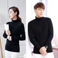 ALKMENE Fashion Sweater and Pullover for Couple 2017 New Solid Women Sweater Knitted Turtleneck Full Sleeve Wool Sweater Brand