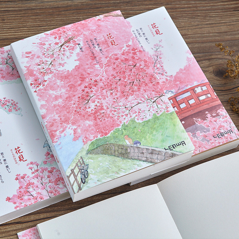 Sakura Series Sketchbook A5 Blank Flower Sketch Book Soft Cover 120 Sheets