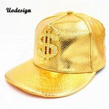 Из искусственной кожи хип-хоп кепка Доллар США знак Мужские Женские шапки подарок на день рождения хип-хоп шляпы