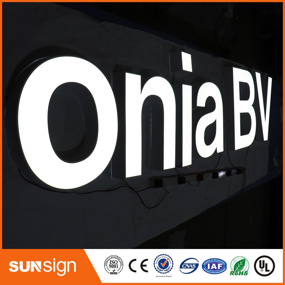 Wholesales Popular Led Light Acrylic Faces Frontlit Led Letters
