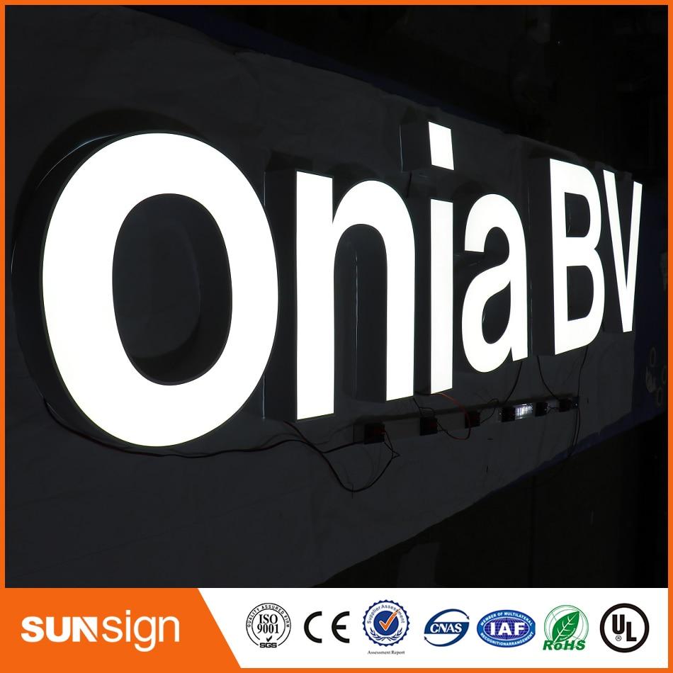 Wholesales Popular Led Light Acrylic Faces Frontlit Led Letters