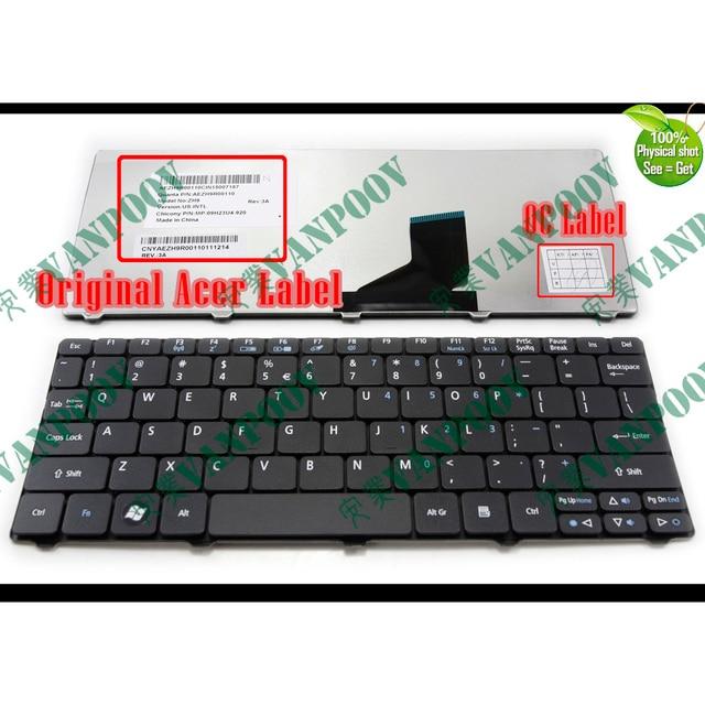 """חדש בארה""""ב מקלדת עבור Acer Aspire One 521 522 533 D255 D255E D257 D260 D270 NAV70 PAV01 PAV70 ZH9 AO521 AO522 AO533 AOD255 AOD255E"""