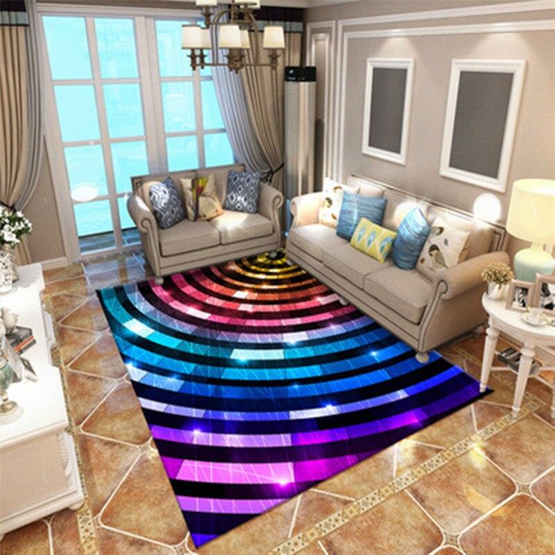 Coloured Rug Kids Room Play Mat Carpet