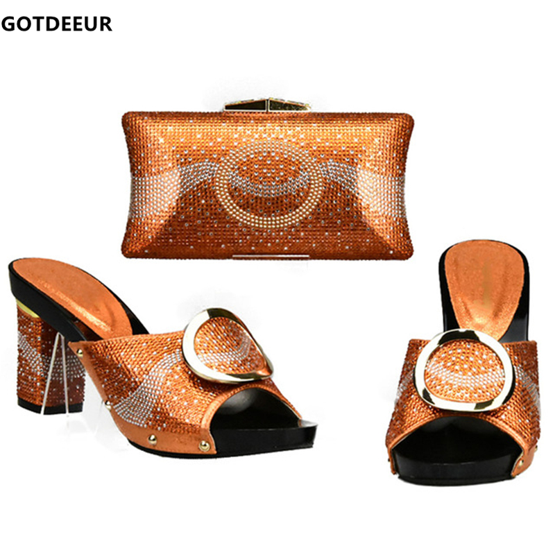 Femmes Chaussure Correspondant 2019 or Assortir Et Chaussures Sac Noir Pour Correspondre jaune Partie argent Italie Nouveau Italiennes Dames orange Sacs À Ensemble rouge ZP7nAx