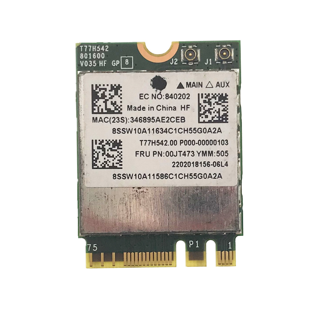 BCM943162ZP AC WLAN Card 2.4G&5G 433M Wifi +Bluetooth 4.0 NGFF FRU 00JT473 For Lenovo G50-30 45 70 70M Z50-70-75 E455 E555