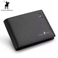 Wallets Men Short Business style Red white blue Strip Card Holder Slots Ultrathin Genuine Leather Portable PL171336