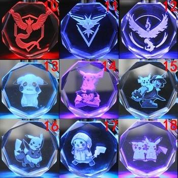 аниме Брелок кристалл Покемоны в ассортименте