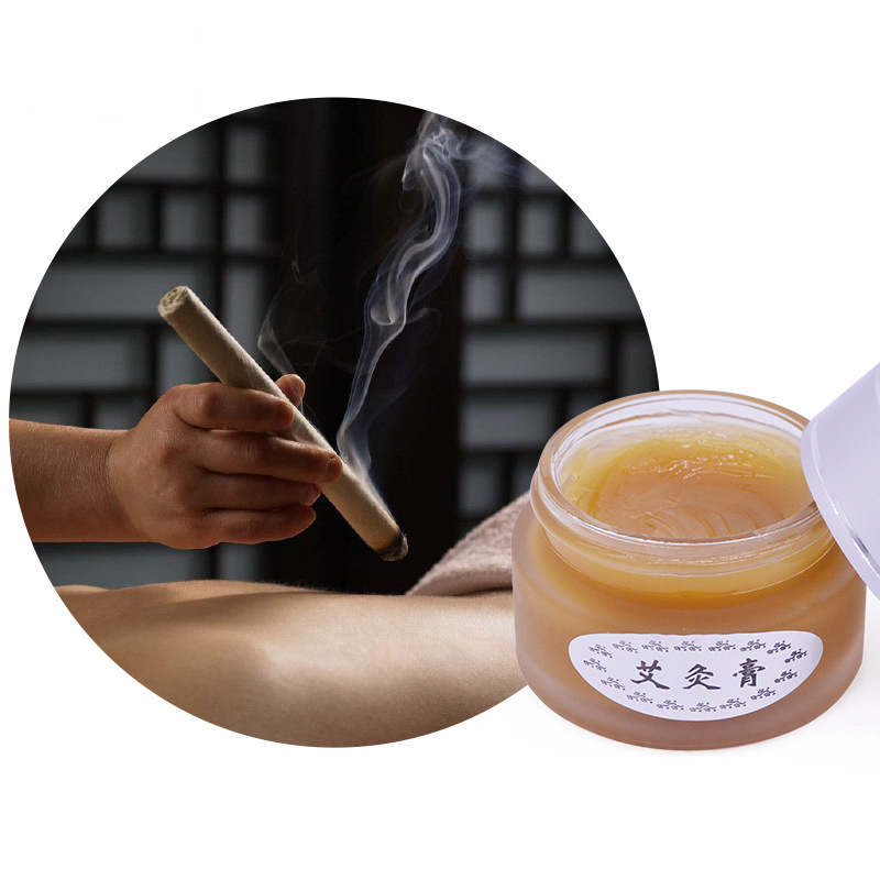 Herbal Moxa Moxibustion Cream Balm Mugwort Skin Care -1671