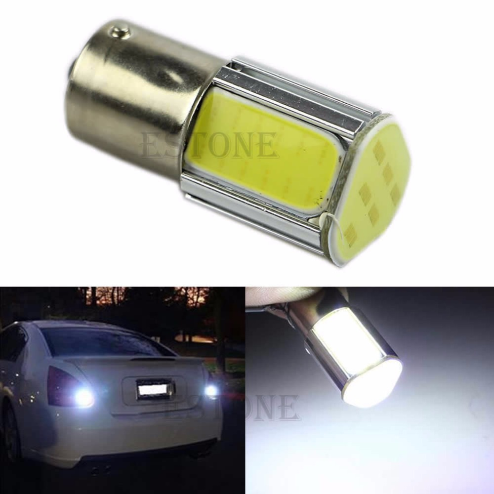 White 1156 G18 Ba15s 4 COB LED Turn Signal Rear Light Car Bulb Lamp 12V new and original solenoid valve vq1200y 5