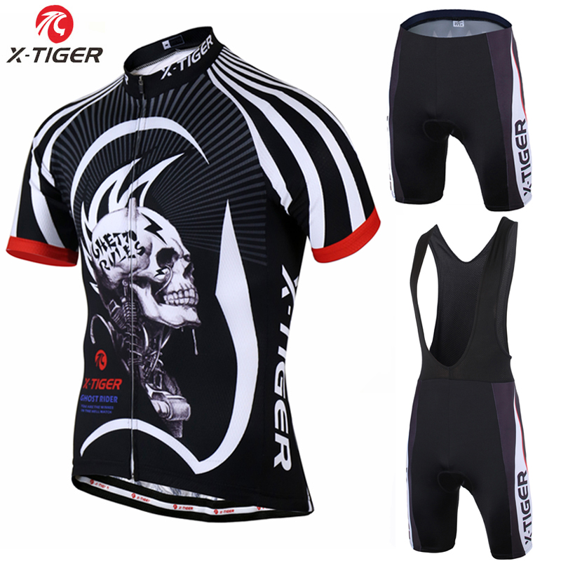 X-Tiger 2017 Cycling jersey Set Summer Bicycle Clothing Maillot Ropa Ciclismo Hombre Short Sleeve MTB Bike Sportswear Suit summer x tiger brand short sleeve cycling jersey set quick dry mtb bike cycling clothing bike clothing ropa ciclismo