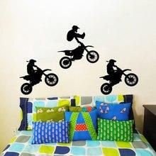 Vinyl Sticker  Art Home Decor Jump Bike Cyclist BMX Jumping Extreme Sports Wall Kids Children Dorm M-117