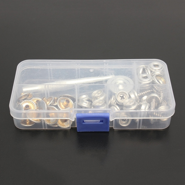 62pcs Boat Cover/Canopy Fittings Stainless Steel Canvas to Screw Press Stud Kit Tools Canopies tent With Box 15mm Wholesale & 62pcs Boat Cover/Canopy Fittings Stainless Steel Canvas to Screw ...