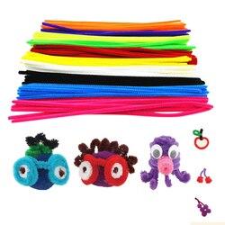 100 шт., цветные ватные палочки из синели, Детские Обучающие палочки для рукоделия, Монтессори
