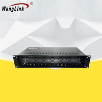 2U 14 Slots 19 inch Rack Chassis, Double Power Supply Fiber Optical Media Converter Chassis