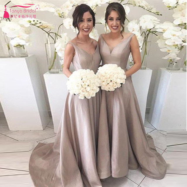 Gary V Neck Sexy Bridesmaid Dresses Long Elegant Wedding Guest Dresses  Women Formal Gowns Z747