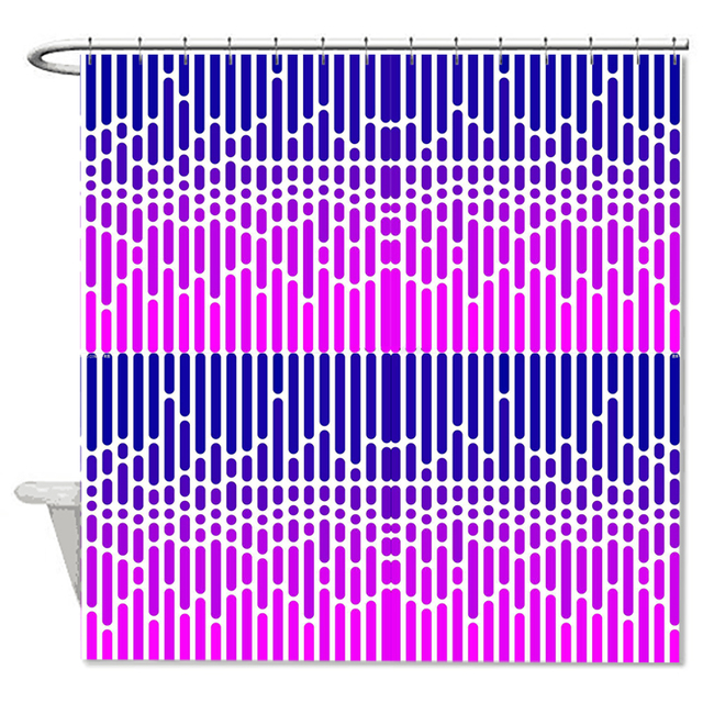 Purple Color Shower Curtains High Quality Waterproof Mildew Polyester Fabric Bath Curtain Bathroom Durable Easy Wash