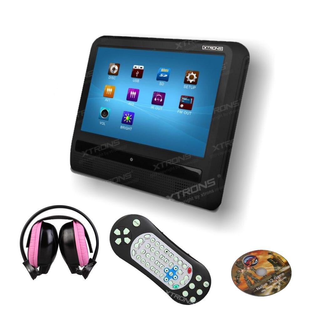 9 hd touch screen car headrest dvd player 800x480