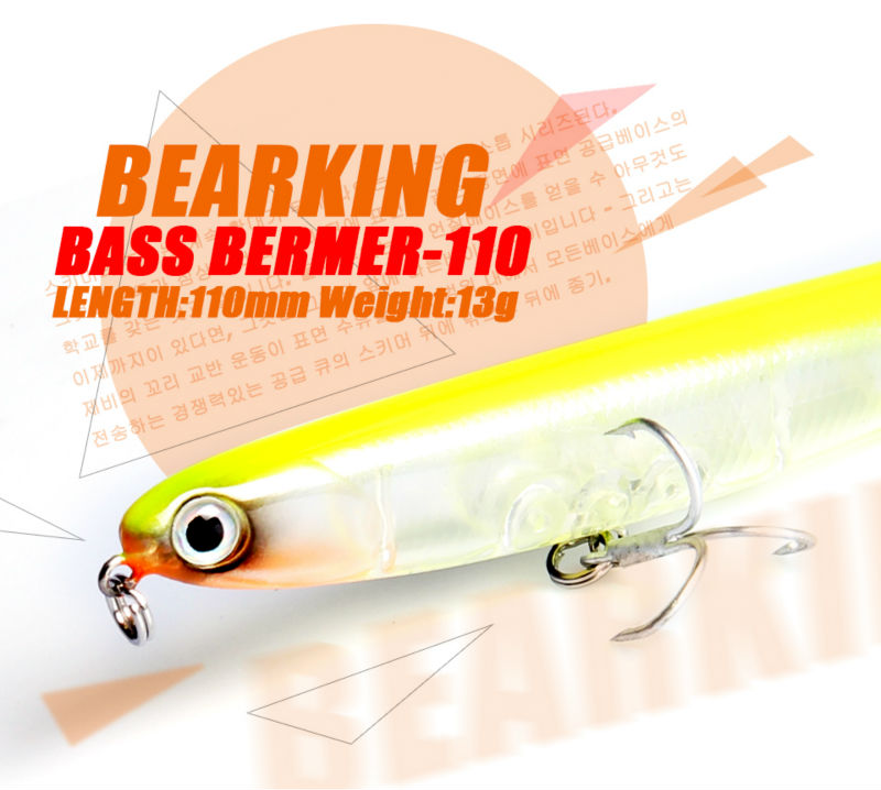 Retail Bearking 2016 hot model fishing lures hard bait 8color for choose 110mm 13g  minnow,quality professional minnow retail bearking 2016 hot model fishing lures hard bait 8color for choose 110mm 13g minnow quality professional minnow