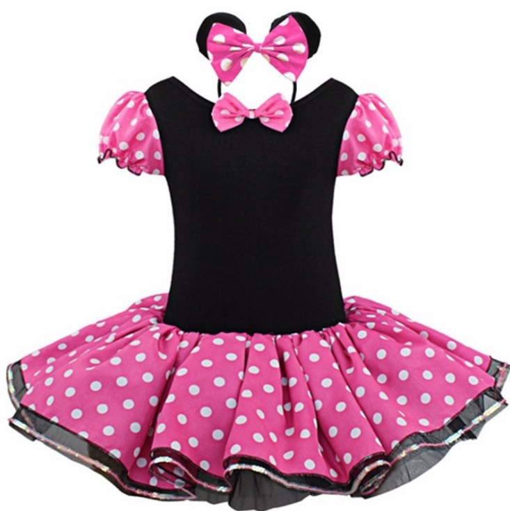Toddler Baby Kids Girls Minnie Mouse Dress Christmas Party Tutu Fancy Costume