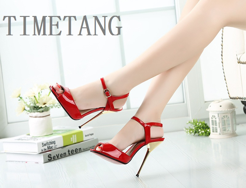 Plus BIG SIZE 40-50 Brand New Sexy Red Peep Toe Planting thin high heel Pumps/Fashion women party wedding sandals Free shipping brand new hot sexy women sandals black light blue apricot fashion pumps ladies high heel shoes em331 plus big size 4 10 12 43 47