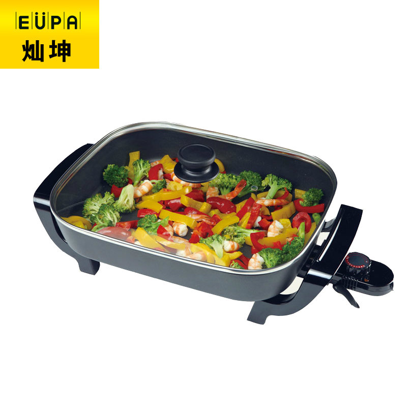 220V Multifunctional Non-stick Electric Cooker Household Multi Cooker Non-stick Hot Pot Frying Pan Smokeless Electric Skillets edtid multifunctional electric cooker mini heat pan students hot pot without oil fume nonstick frying pan special offer