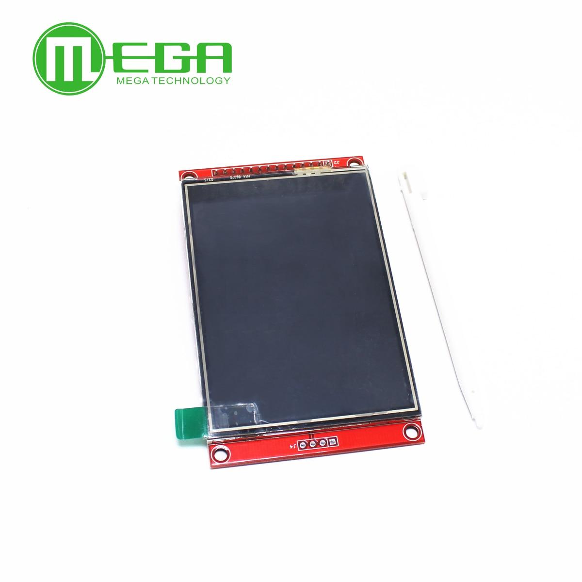 1 pçs 3.2 polegada 320*240 spi serial tft lcd módulo de exibição tela com driver painel toque ic ili9341 para arduino mcu