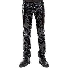 Сексуальное черное женское белье из искусственной кожи размера плюс, экзотические штаны из полиуретанового латекса на молнии, Клубная одежда из ПВХ для сцены, гей-фетиш, штаны