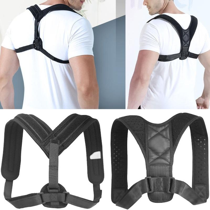 Men/Women Back Posture Corrector Shoulder Support Sit Brace Belt