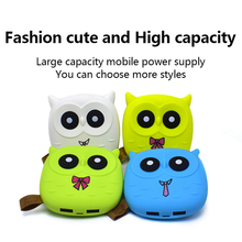 Portable Charger Cute Owl Cartoon Mini Power Bank 5000mAh For Xiaomi External Battery Dual USB Bobile