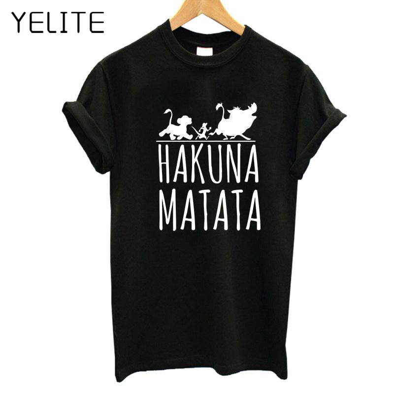YELITE 2019 Fashion Couple Lion King Print T-shirt For Men T Shirt For Women Casual Senior Tshirt Women TShirt Printing T-Shirt