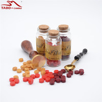 Classic Wax Seal Set With Personal Design Stamp And 3 Bottled Wax Seal Particle Tablets For