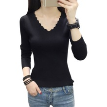 2019 Slim Fit  Fashion Casual V-Neck Sweaters Solid Winter Wear Long Sleeve Sweat Shirts