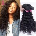 Kbl new brasileiro virgem do cabelo onda profunda 8a grau virgem não transformados cabelo humano 3 budnels brasileiro profunda curly cabelo aceita paypal