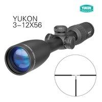 YUKON Jaeger 3-12x56 духовое ружье Охота Riflescope красный точечный стеклянный гравированный тактический прицел оптика зрение длинный диапазон