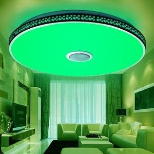 Image 3 - الحديثة سمّاعات بلوتوث LED ضوء السقف عن بعد ملون للتحكم عكس الضوء الموسيقى مصباح غرفة المعيشة تركيبة إضاءة غرفة نوم الذكية